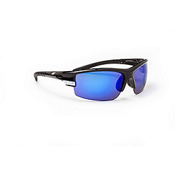 Optic Nerve SideSwipe Sunglasses, Shiny Black-Blue-Copper-Clear, 256