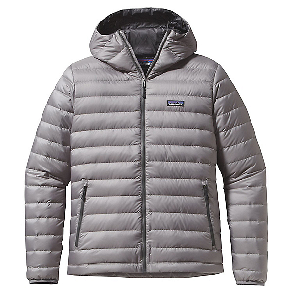 Patagonia Down Sweater Hoody - Men's - LG/Feather Grey w-Forge Grey, Feather Grey w-Forge Grey, 600