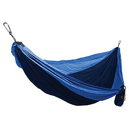 Grand Trunk Single Parachute Nylon Hammock, Navy-Light Blue, 256
