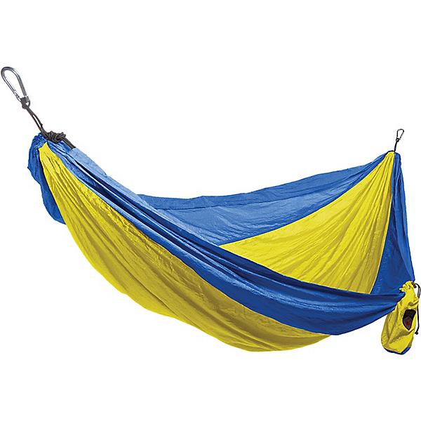 Grand Trunk Single Parachute Nylon Hammock - Yellow-Royal Blue, Yellow-Royal Blue, 600