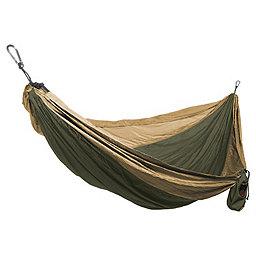 Grand Trunk Single Parachute Nylon Hammock, Olive Green-Khaki, 256
