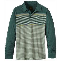prAna Marco Long Sleeve Polo - Men's, Evergreen, 256