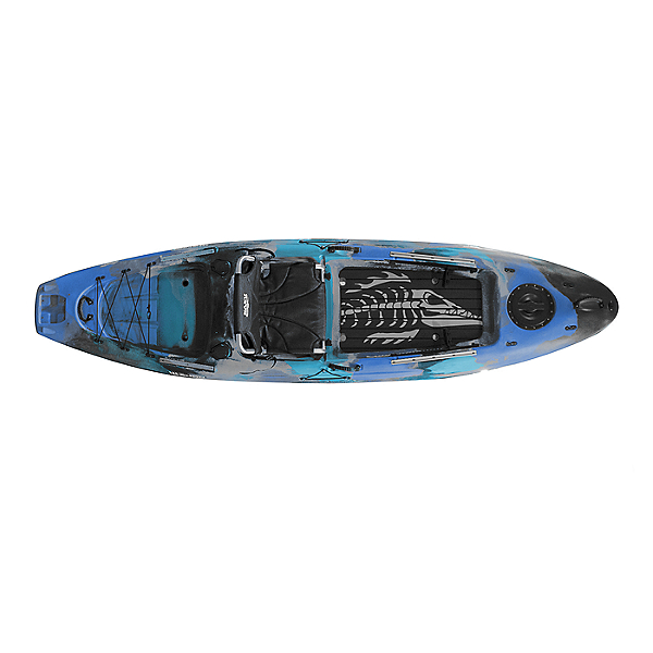 2020 Kaku Kayak Wahoo 10.5 Fishing Kayak, Blue Camo, 600