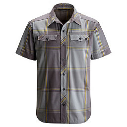 Black Diamond Technician Short Sleeve Shirt - Men's, Nickel-Granite Plaid, 256
