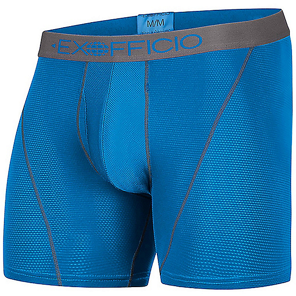 Ex Officio Give-N-Go Sport Mesh Boxer Brief - Men's - XL/Mykonos-Slate, Mykonos-Slate, 600