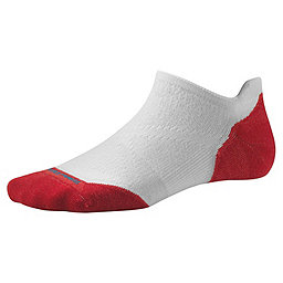 Smartwool PhD Run Light Elite Micro Sock - Women's, White-Hibiscus, 256