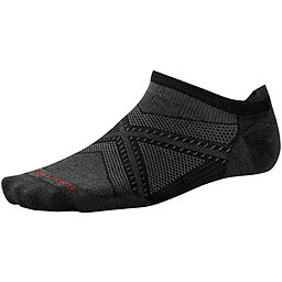 Smartwool PhD Run Ultra Light Micro Sock, Black-Black, 256