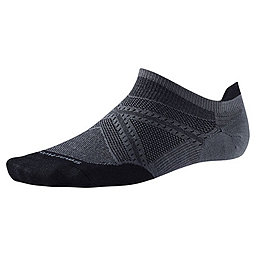 Smartwool PhD Run Ultra Light Micro Sock, Graphite-Black, 256