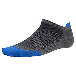 Smartwool PhD Run Ultra Light Micro Sock, Graphite-Bright Blue, 256