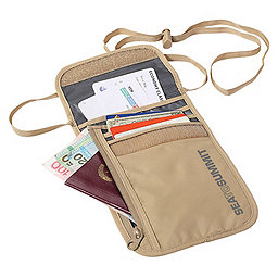 Sea To Summit Travelling Light Neck Wallet, Sand, 256