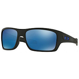 Oakley Turbine Sunglasses, Matte Black w-Ice Iridium, 256