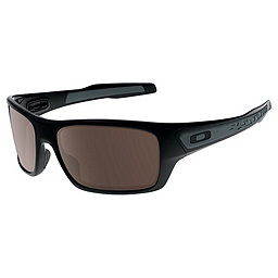 Oakley Turbine Sunglasses, Polished Black w-Warm Grey, 256