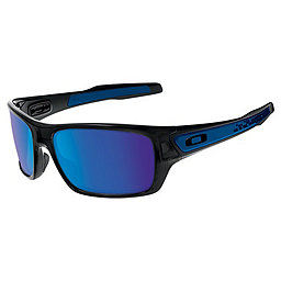 Oakley Turbine Sunglasses, Black Ink w-Sapphire Iridium, 256