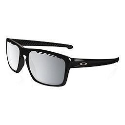 Oakley Silver Sunglasses, Pol Blk w- Chrome Iridium Vntd, 256