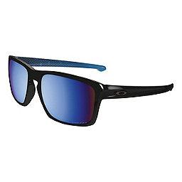 Oakley Silver Sunglasses, Pol Blk w-Prizm Deep Water Pol, 256