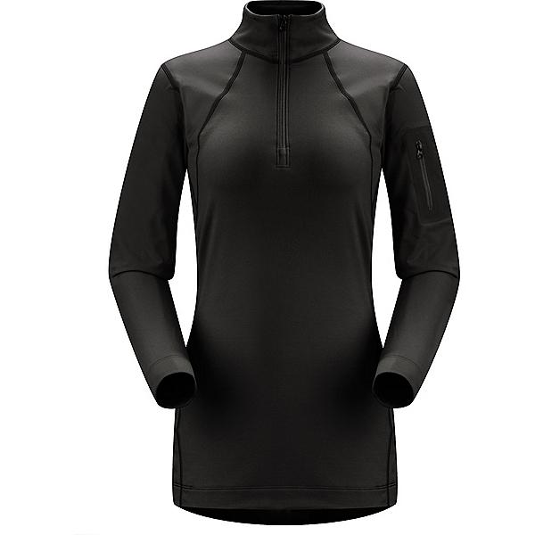 Arc'teryx Rho LT Zip Neck - Women's - MD/Black, Black, 600