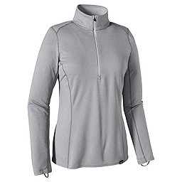 Patagonia Cap MW Zip Neck - Women's, Feather Grey-Tailored Grey, 256
