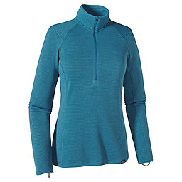 Patagonia Cap TW Zip Neck - Women's, Ultramarine-Underwater Blue, 256