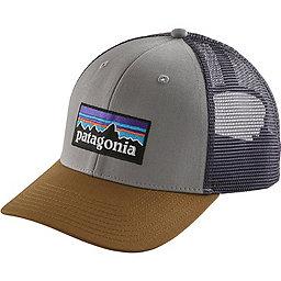 Patagonia P6 Trucker Hat, Drifter Grey w-Coriander, 256