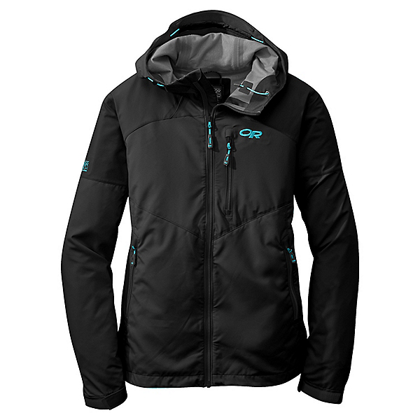 Outdoor Research Trailbreaker Jacket - Women's - SM/Black-Rio, Black-Rio, 600