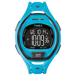 Timex Ironman Sleek 50 Lap, Neon Blue, 256