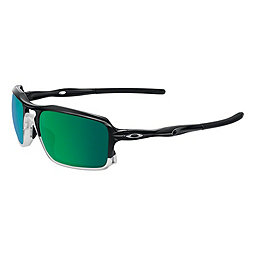Oakley Triggerman Sunglasses, Polished Black w-Jade Irid, 256