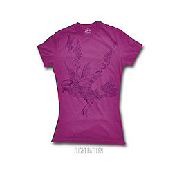 Meridian Line Flight Pattern Tee - Women's, Berry, 256