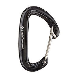 Black Diamond Oz Carabiner - Wiregate, Black, 256