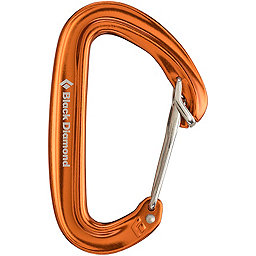 Black Diamond Oz Carabiner - Wiregate, BD Orange, 256