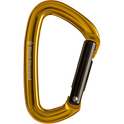 Black Diamond Positron Carabiner - Straight Gate, Yellow, 256