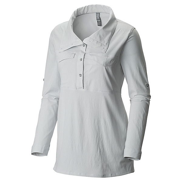Mountain Hardwear Citypass Long Sleeve Popover - Women's - XL/White, White, 600