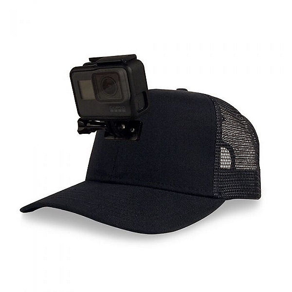 Action Hat Mesh Hat Mount for GoPro Black - Curved Bill, Black, 600