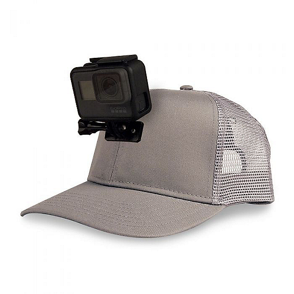 Action Hat Mesh Hat Mount for GoPro Gray - Curved Bill, Gray, 600