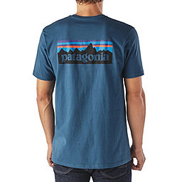 Patagonia P-6 Logo Cotton T-Shirt - Men's, Glass Blue, 256