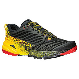 La Sportiva Akasha Trail Running Shoe - Men's, Black-Yellow, 256