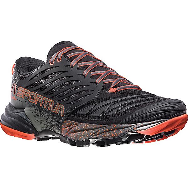 La Sportiva Akasha Trail Running Shoe - Men's - 45.5/Black-Tangerine, Black-Tangerine, 600