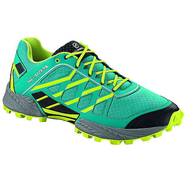 Scarpa Neutron Trail Running Shoe - Men's - 42.5/Abyss-Lime, Abyss-Lime, 600