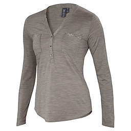 Ibex OD Shanti Henley Women's, Rye Heather, 256