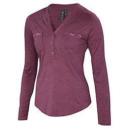 Ibex OD Shanti Henley Women's, Winter Cherry Heather, 256