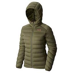 Mountain Hardwear StretchDown Hooded Jacket Women's, Stone Green, 256