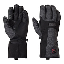 Outdoor Research Oberland Heated Gloves, Black-Charcoal, 256