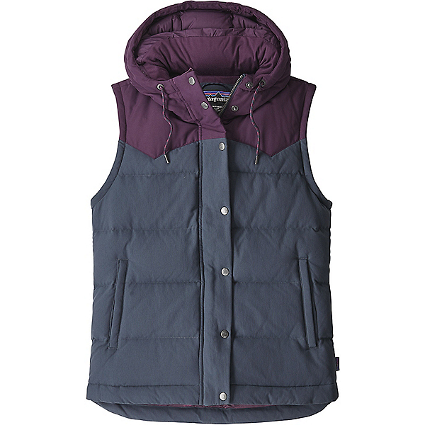 Patagonia Bivy Hooded Vest Women's - MD/Smolder Blue w-Deep Plum, Smolder Blue w-Deep Plum, 600