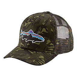 Patagonia Fitz Roy Trout Trucker Hat, Big Camo Fatigue Green, 256