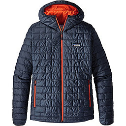 Patagonia Nano Puff Hoody, Navy Blue-Paintbrush Red, 256