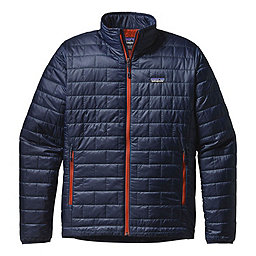 Patagonia Nano Puff Jacket, Navy Blue-Paintbrush Red, 256