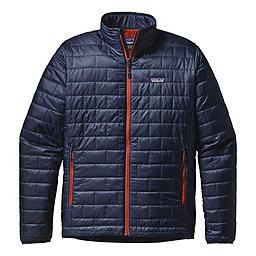 Patagonia Nano Puff Jacket, Navy Blue-Paintbrush Red, 256