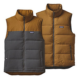 Patagonia Reversible Bivy Down Vest, Forge Grey-Bear Brown, 256