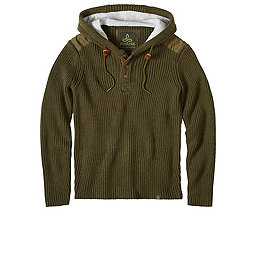 prAna Hooded Henley Sweater, Cargo Green, 256