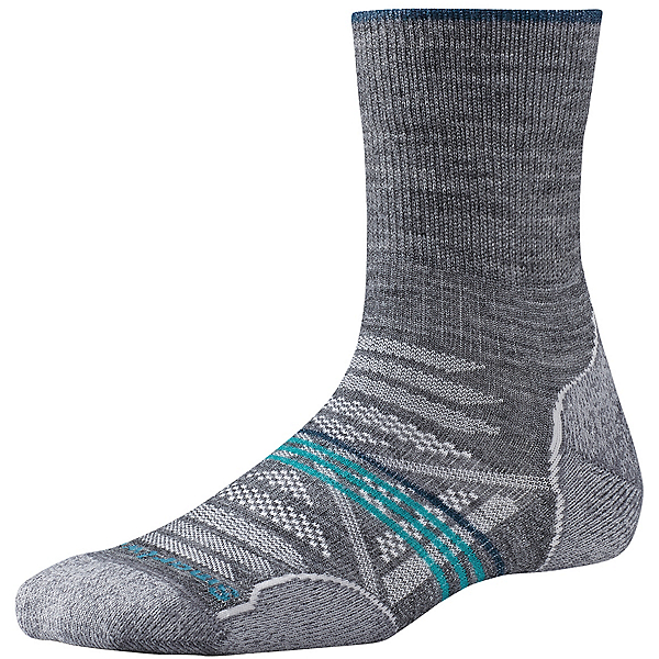Smartwool PhD Outdoor Light Mid Crew Women's, Medium Gray, 600