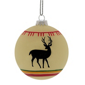 White Deer Blanket Ball Ornament, , medium